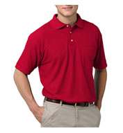 Men's Teflon Treated  Pique Polo with Pocket