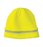 Cornerstone Enhanced Visibility Beanie with Reflective Stripe