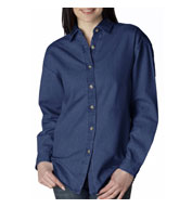 UltraClub Womens' Cypress Denim Shirt