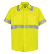 Red Kap Men's ANSI 107-2004 Class 2 Level 2 Compliant Hi-Visibility Shirt