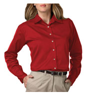 Ladies Long Sleeve Teflon Twill Shirt