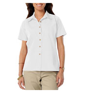 Blue Generation Ladies Short Sleeve Teflon Twill Shirt