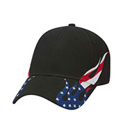 Otto® United States Flag Flame Pattern Racing Cap
