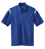 NIKE Golf Men's Dri-FIT Shoulder Stripe Sport Shirt