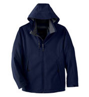 Men's Insulated Soft Shell Jacket With Detachable Hood