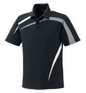 Men's Performance Polyester Pique Color-Block Polo