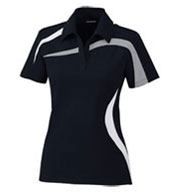 Ladies' Performance Polyester Pique Color-Blocked Polo