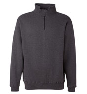 J. America Adult Heavyweight 1/4 Zip Fleece Sweatshirt