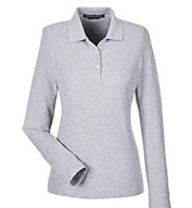 Devon & Jones Ladies' Pima Piqué Long-Sleeve Polo