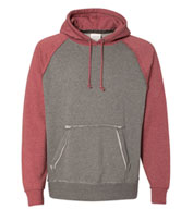J. America  Adult Vintage Heather Hooded Sweatshirt