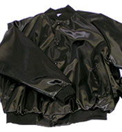 ASW Adult Pro-Satin Solid Baseball Jacket with Flannel-Lining