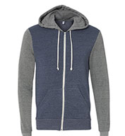 Alternative Men's Rocky Color-Block Eco-Fleece  Full-Zip Hoodie