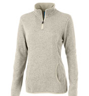 Charles River Women's Soft Heathered Fleece Pullover