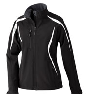 North End Ladies' Enzo Color-Blocked Soft Shell Jacket