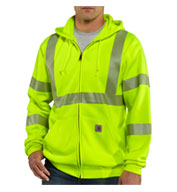 Carhartt Men's ANSI 3 High-Visibility Zip-Front Sweatshirt