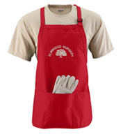 Augusta Medium Length Apron with Pouch
