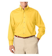 Men's Long Sleeve Stain Release Poplin