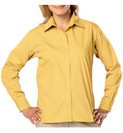 Ladies Long Sleeve Budget Friendly Poplin Shirt