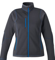 North End Ladies' Pulse Textured Fleece Jacket with Print