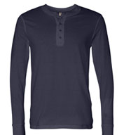 Bella + Canvas Men's Long Sleeve Jersey Henley