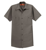 Red Kap Mens Tall  Half Sleeve Industrial Work Shirt