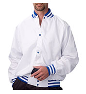 ASW Adult Pro-Satin Baseball Jacket - Flannel Lined