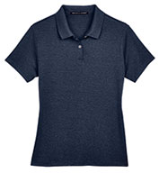 Devon & Jones Ladies Pima-Tech™ Jet Pique Heather Polo