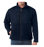 UltraClub Men's Quilted Fleece Jacket