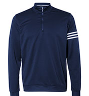 Adidas Men's 3-Stripes French Terry Quarter-Zip Pullover