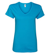 Anvil Ladies Ringspun V-Neck T-Shirt