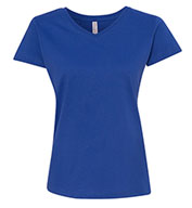 LAT Ladies Fine Jersey V-Neck T-Shirt