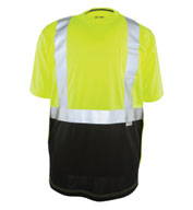 Game Sportswear Adult Black Bottom ANSI II Hi-Vis Tee