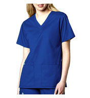 WonderWink® WonderWORK Women's V-Neck Scrub Top