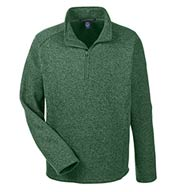 Devon & Jones Men's Bristol Quarter-Zip Sweater Fleece