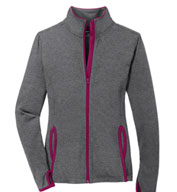 Ladies' Sport-Tek Stretch Contrast Full-Zip Jacket