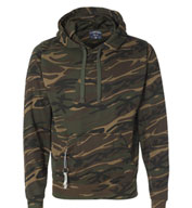 J. America Men's Tailgate Poly Hooded Fleece