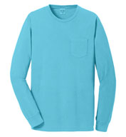 Port & Company® Adult Beach Wash™ Long Sleeve Pocket Tee