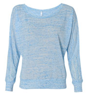 Bella + Canvas Ladies' Flowy Long Sleeve Off Shoulder Tee