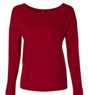 Next Level Ladies French Terry Long-Sleeve Scoop