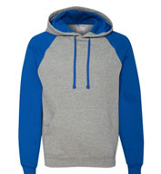 JERZEES Nublend® Adult Colorblocked Hooded Sweatshirt