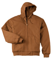 Duck Cloth Adult Hooded Work Jacket
