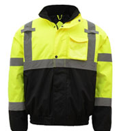 GSS Safety Class 3 Men's Waterproof Quilt-Lined Bomber Jacket