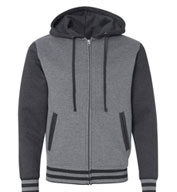 Independent Trading Co. Unisex Varsity Full-Zip Hooded Sweatshirt