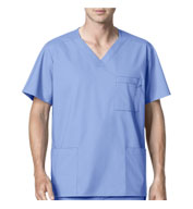 WonderWink® WonderWORK Men's Multi-Pocket Scrub Top