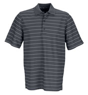 Greg Norman Men's Play Dry Performance Striped Mesh Polo