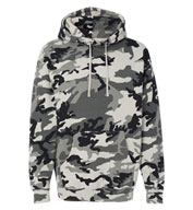 Independent Trading Co. Adult Hooded Camo Pullover Sweatshirt