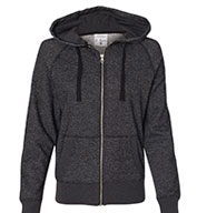 Ladies' Glitter Hooded Full-Zip Sweatshirt