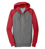 Adult Raglan Colorblock Full-Zip Hooded Jacket