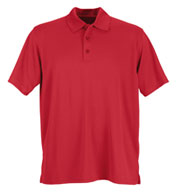 Vansport™ Omega Men's Solid Mesh Tech Polo