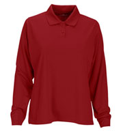 Vansport™ Omega Women's Long Sleeve Solid Mesh Tech Polo